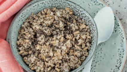 Gruau d'avoine, quinoa et chia