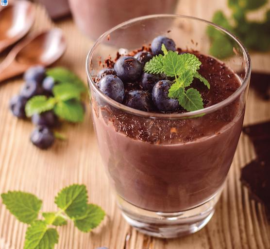Mousse cétogène au chocolat