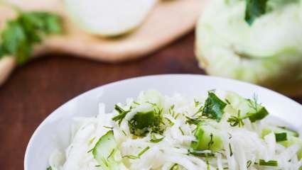 Salade de chou-rave et concombre