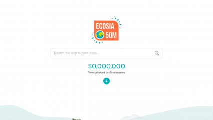 Page d'accueil Ecosia