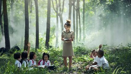 Enfant  - croissance - nature