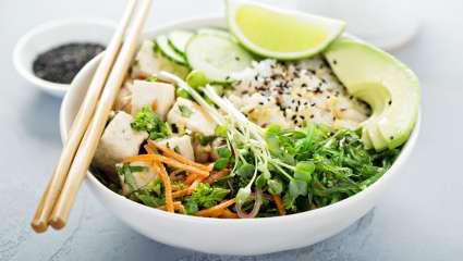 tofu et riz aux légumes