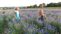 Brigitte Qaghebeur & Catherine productrice de bleuet