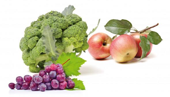 brocoli pommes et raisins