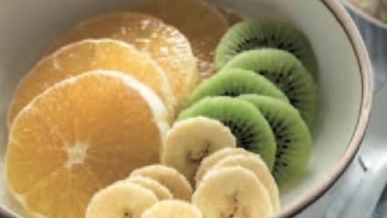 Salade tricolore de fruits