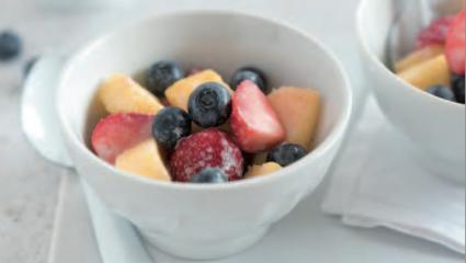 Coupe de fruits à la crème