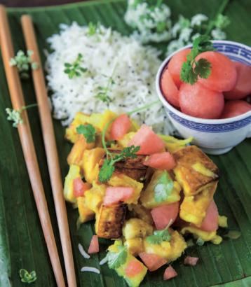 Curry de tofu aux fruits