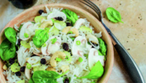 Salade de riz, épinards et noix de cajou