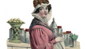 Publicité pour Mme Claverie, herboriste