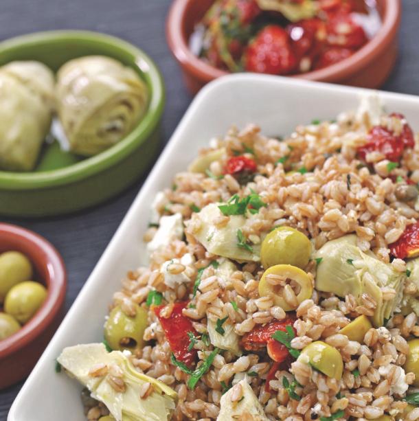 Salade d'épeautre méditerranéenne