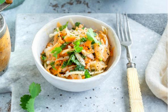 Salade de carottes lime coriandre