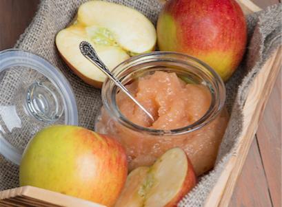 Compote de pommes à l'orange et au gingembre