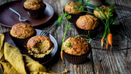 Muffins aux carottes à la cannelle