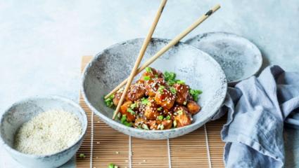 Tofu croustillant, sauce teriyaki