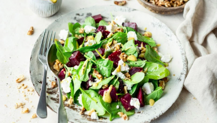 Salade de betteraves au chèvre