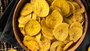 Chips de plantain au four