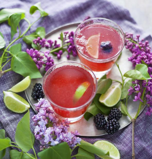 cocktail sauvage aux mûres