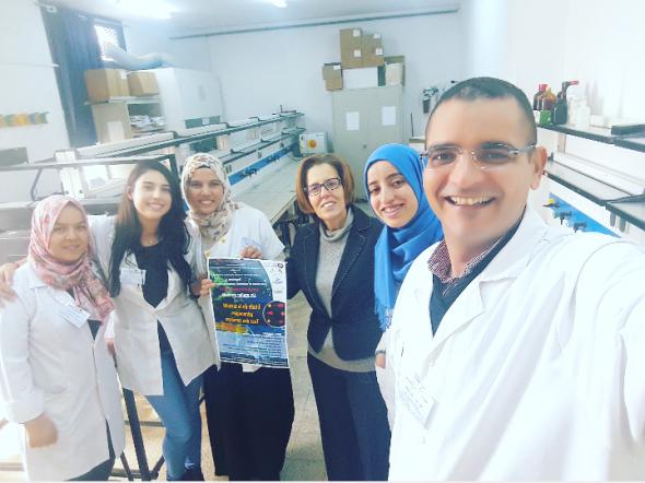 Leïla Chekir Ghedira et ses étudiants de l'Université de Monastir