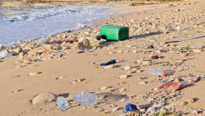 Pollution plastique sur la plage