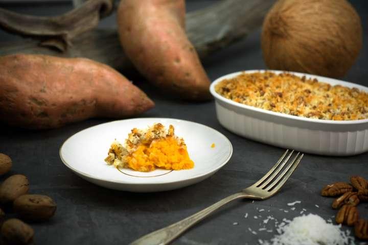 Gratin végétalien de patates douces