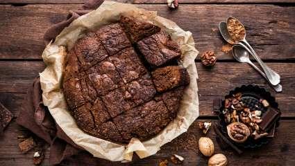 Gâteau aux amandes et chocolat