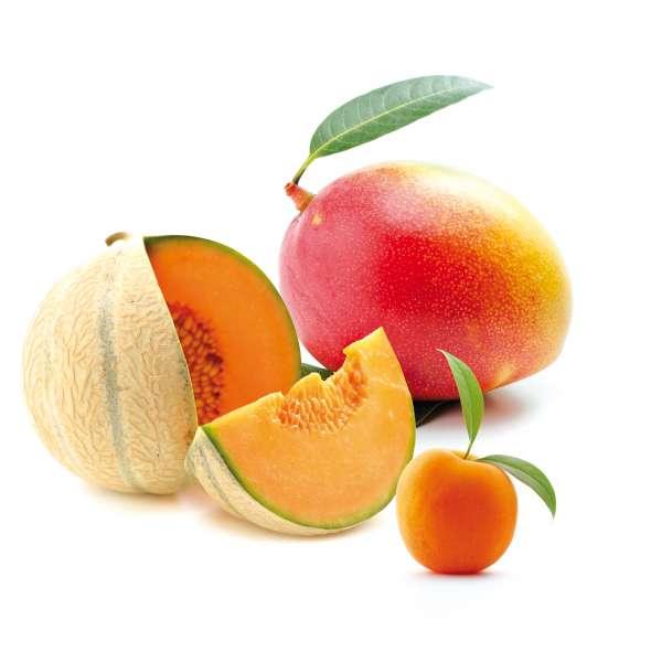 Mangue, melon et abricot