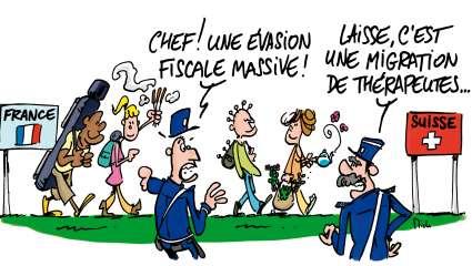 Caricature suisse thérapies alternatives
