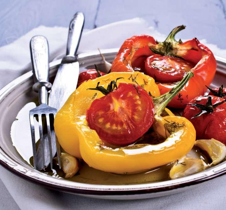 Poivrons farcis aux tomates