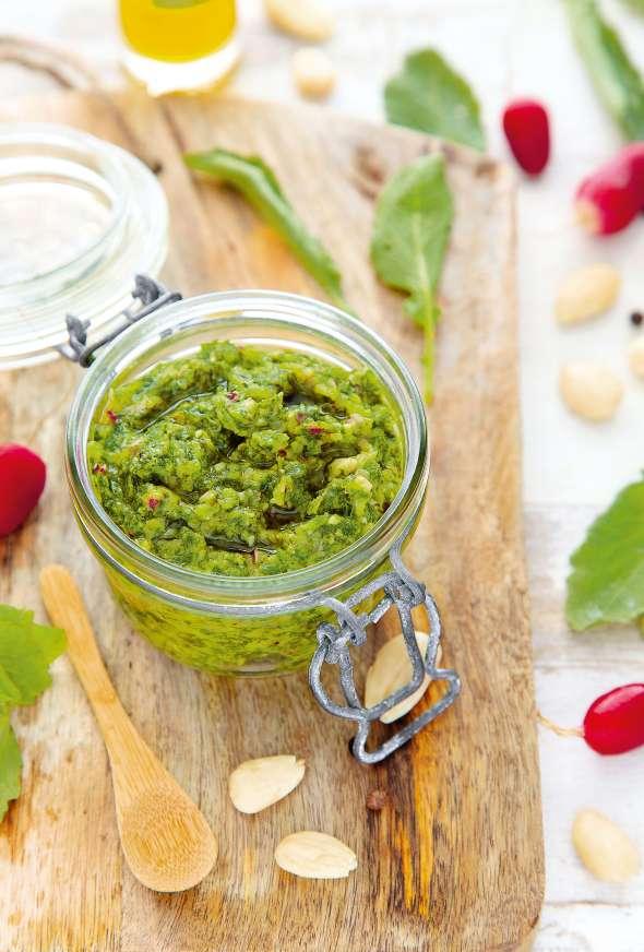 Pesto de feuilles de radis