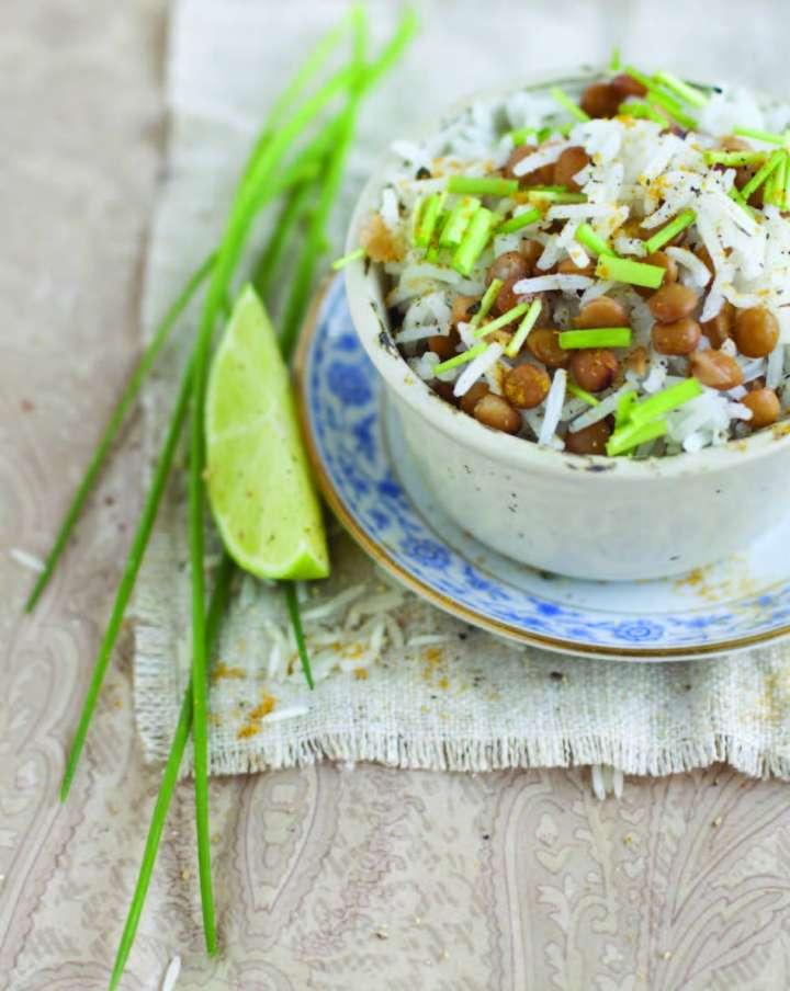 Riz et lentilles aux herbes
