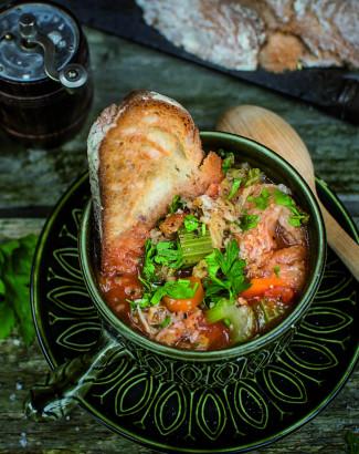 Soupe Toscane au pain et au chou