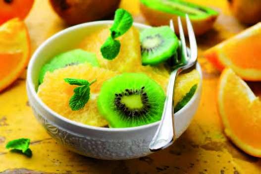 Salade bicolore de fruits