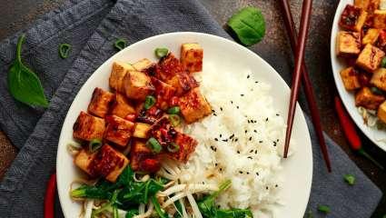 Sauté de tofu à l'huile de sésame