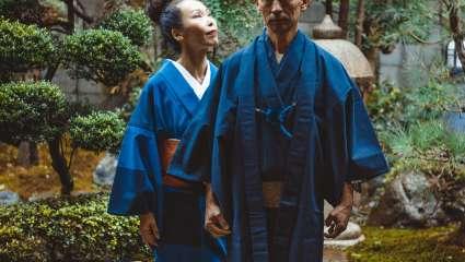 Couple de séniors japonais